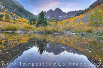 maroon bells, 14ers, autumn, fall, gold, aspen, october, evening, west maroon creek