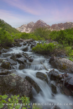 maroon bells, 14ers, waterfall, cascade, aspen, hiking, colorado waterfalls, morning, sunrise, maroon lake