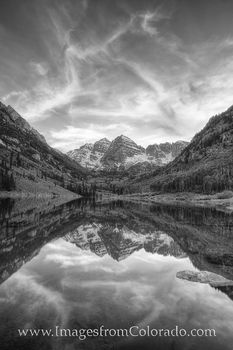 colorado black and white, black and white, maroon bells, maroon lake, aspen, colorado icons, rocky mountains
