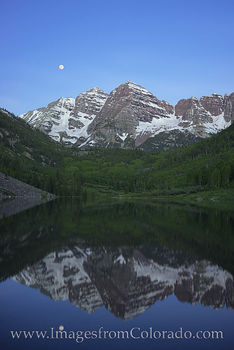 maroon bells, moon, maroon lake, maroon, 14ers, maroon peak, aspen, colorado, icons, moonset, sunrise, elk range