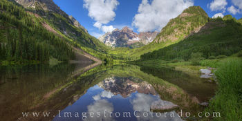 Maroon Bells Morning Panorama 1
