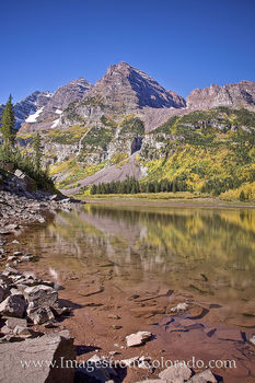 Maroon Bells Reflection from Crater Lake 2