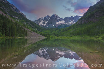 Maroon Bells Summer Evening 4