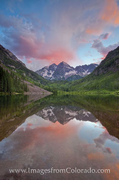 Sunset at the Maroon Bells 1