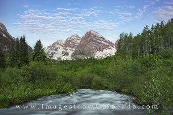 Maroon Bells and Creek 1