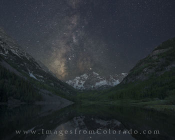 Maroon Bells under the Milky Way 2