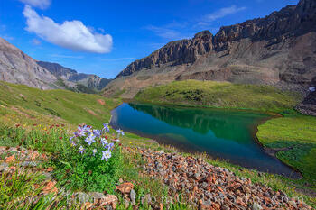 Middle Blue Lake on a Summer Afternoon 726-1