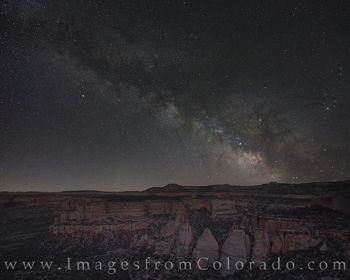 Milky Way Over Colorado National Monument 1