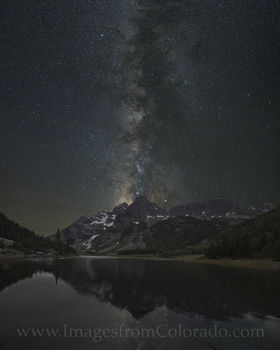 milky way, maroon bells, crater lake, maroon bells images, milky way images, milky way over colorado, colorado night sky, 14ers, colorado photos, night sky images