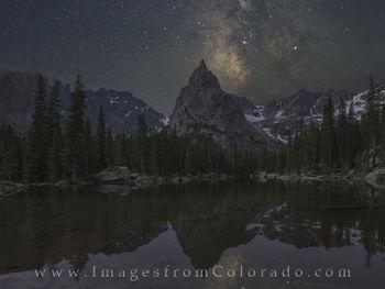 lone eagle peak, milky way, mirror lake, grand county, night sky, colorado milky way, monarch lake, indian peaks, indian peaks wilderness, colorado hikes, hiking colorado