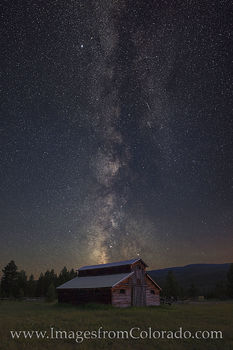 Milky Way over an Old Barn in Rocky Mountain NP 1