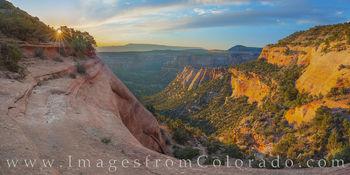 Monument Canyon Sunrise Panorama 11