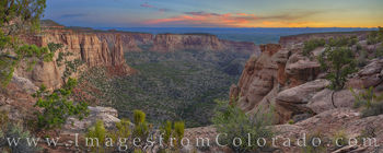 Monument Canyon Sunrise Panorama 1