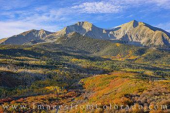 mount sopris, carbondale, autumn, fall, fall prints, autumn prints, colorado prints, morning, gold, orange, october