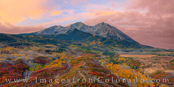 Mount Sopris Autumn Morning Panorama 102-1