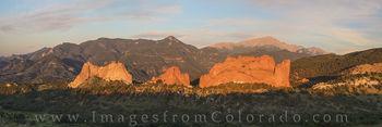 pikes peak, colorado springs, garden of the gods, panorama, 14ers, pikes peak image, pikes peak panorama, garden of the gods pano, colorado photos, colorado panoramas