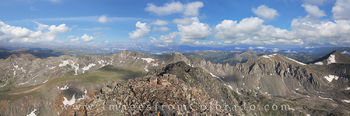 quandary peak, 14er, breckenridge, hiking, hikes, colorado trails, colorado summits, summer, panorama