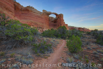 Rattlesnake Arch, rattlesnake canyon, arches loop, arches, canyon, mcinnis canyon, western colorado, grand junction