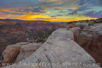 rattlesnake arch, centennial arch, rattlesnake canyon, colorado national monument, colorado plateau, mcinnis canyons, grand junction, fruita, western colorado, remote, sunset, canyon, orange
