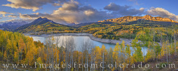 silver jack, fall, autumn, panorama, morning, cimarron ridge, october, aspen, gold