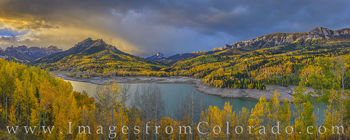silver jack, cimarron, autumn, fall, sunrise, aspen, gold, cold, october, san juans, panorama