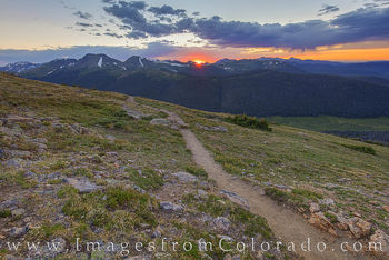 RMNP, sunset, rocky mountains, trail ridge road, summer, national parks, RMNP prints, colorado prints
