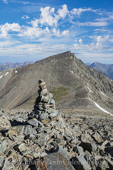 14ers, Grays Peak, Torreys Peak, Colorado 14ers, Stevens Gulch, Continental Divide Trail, cairn, summer, rocky mountains