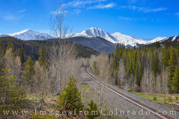 Train Tracks through the Rockies in Spring 525-1