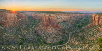 Ute Canyon Overlook Sunset Panorama 626-1