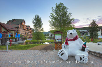 winter park colorado, winter park images, hideaway park, hideaway village, winter park village, winter park polar bear, coca cola bear, coke polar bear, winter park ski base, winter park morning