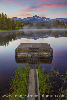parry peak, winter park, sunrise, summer, pond, reflection, continental divide