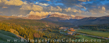 winter park, grand county, fraser valley, highway 40, parry peak, james peak, continental divide, summer, afternoon, panorama