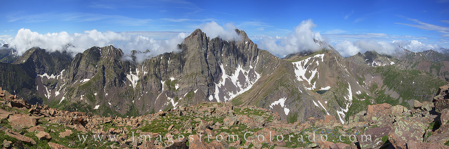 14ers, Crestone Peak, Crestone Needle, Humbolt Peak, panorama, colorado landscapes, san isabel forest, photo