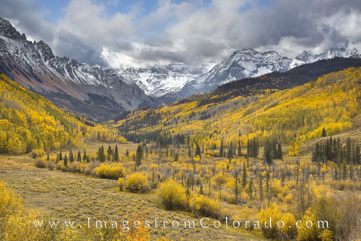 san juan mountains, san juans, aspen, autumn color, fall in colorado, rocky mountains, colorado landscapes, ouray, photo