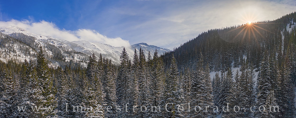 Berthoud Pass Peaks after Sunrise 1228-1