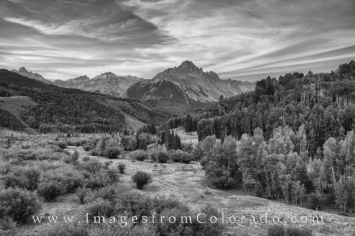 Colorado Images, black and white, Colorado landscapes, Mt Sneffels images, Mt. Sneffels, Ouray Colorado, ouray, ridgway, san juan mountains, san juans, photo