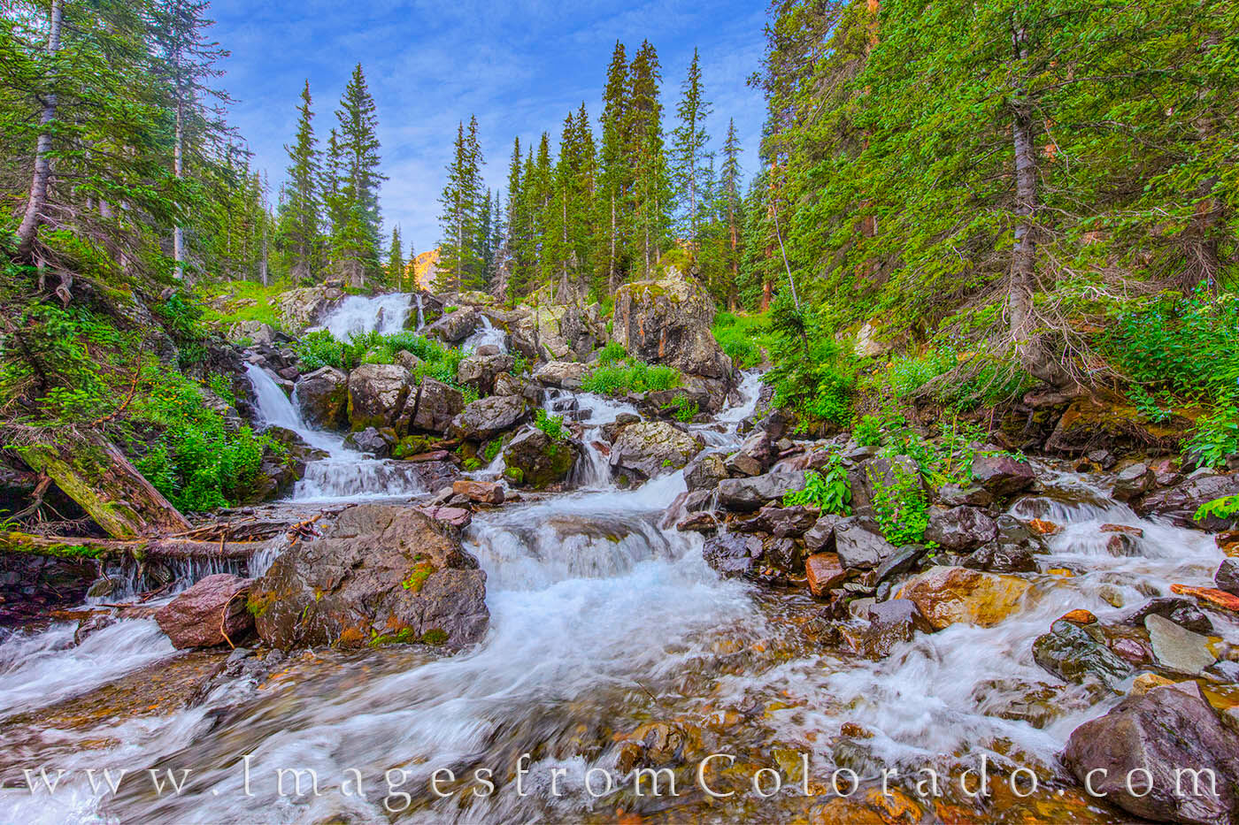 This beautiful cascade comes from the East Fork of Dallas Creek nea the Dallas Divide. Just off the Blue Lakes Trail between...
