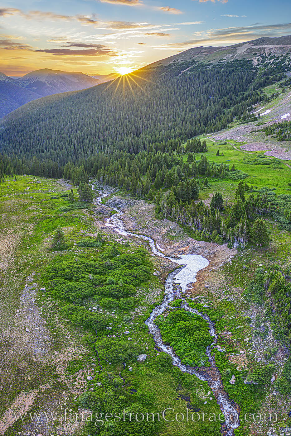 butler gulch, drone, sunrise, morning, clear creek county, grand county, hike, exploring, photo