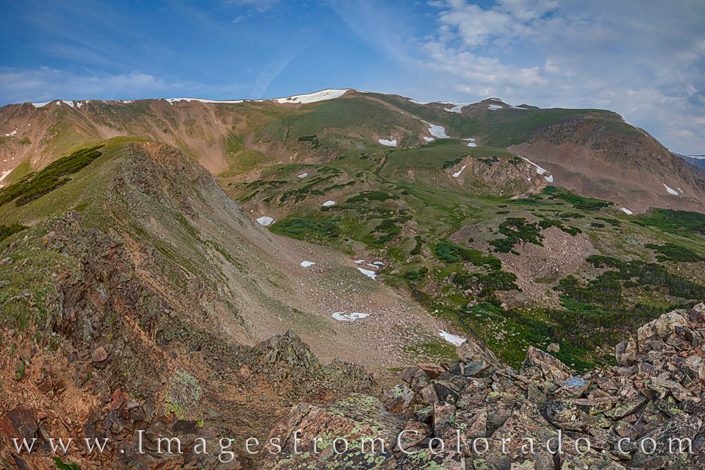 The Butler Gulch Loop is a relatively easy 5.7 mile hike up through the gulch, then along a ridge, then back down into the valley...