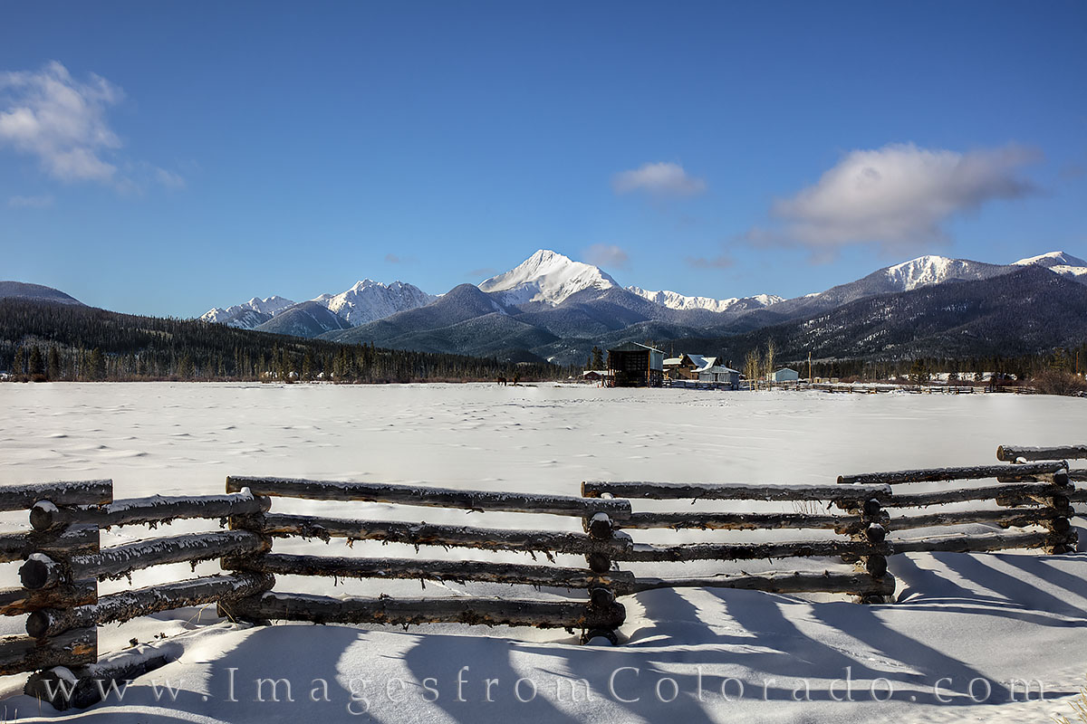 byers peak, fraser, fraser valley, winter, december, fence, wooden fence, rocky mountains, grand county, winter park, snow, photo