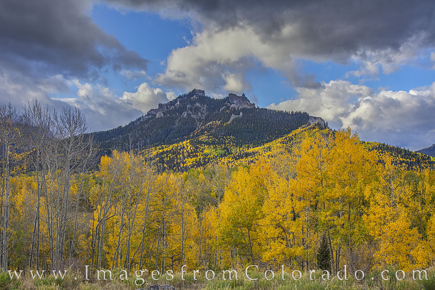 aspen, autumn, fall, gold, cimarron, ouray, silver jack, photo