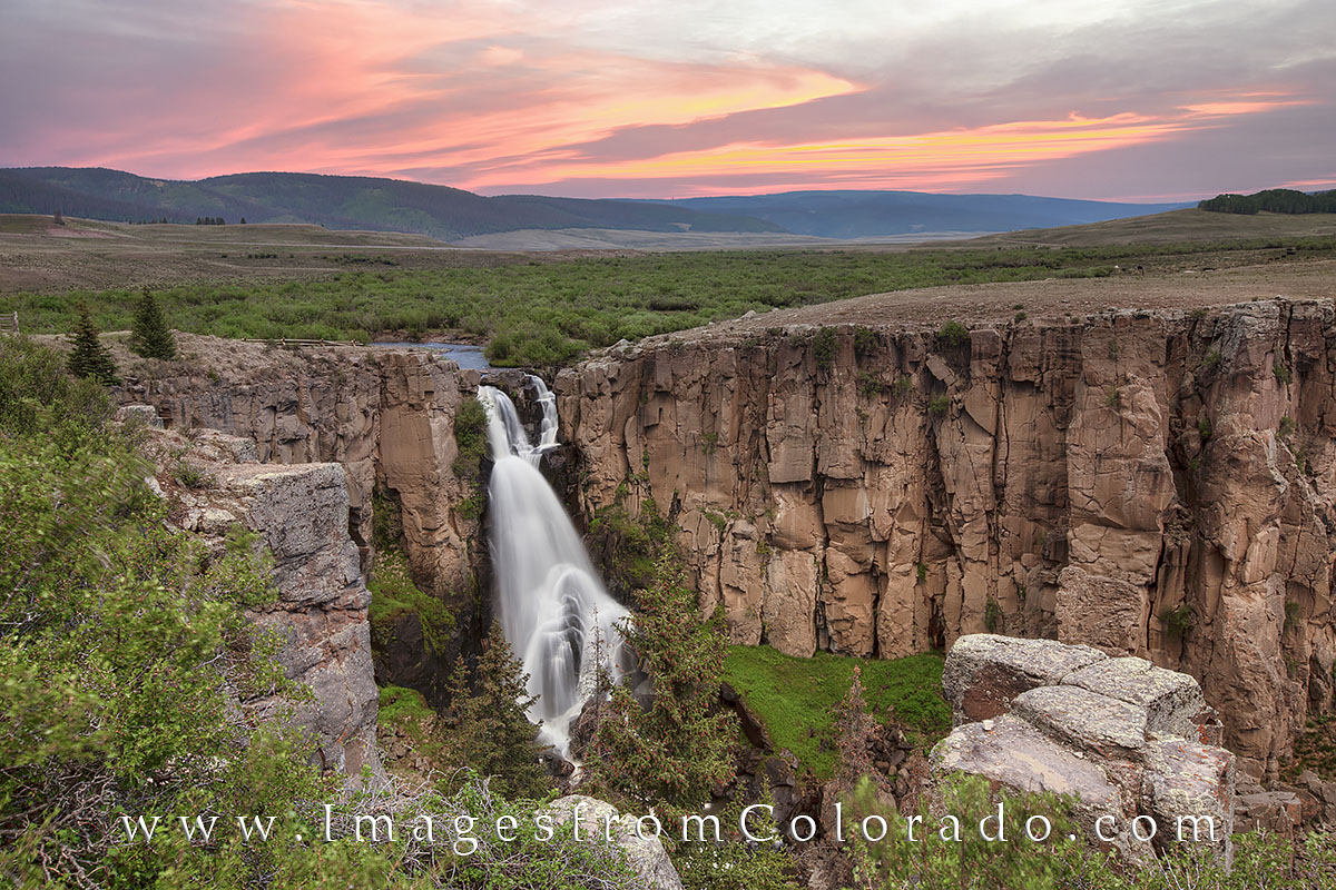 North Clear Creek Falls, waterfall, Colorado images, North Clear Creek Falls images, lake city, photo