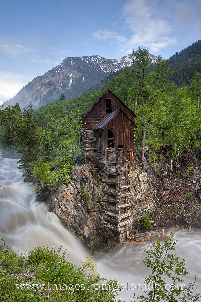 As one of Colorado's photographic icons, the Crystal Mill sits precariously along the banks of the Crystal River. Here, the Crystal...