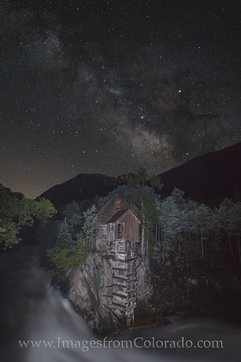 crystal mill images, crystal mill colorado, milky way, milky way photos, night sky, colorado night sky, coloarado milky way, dead horse mill, photo