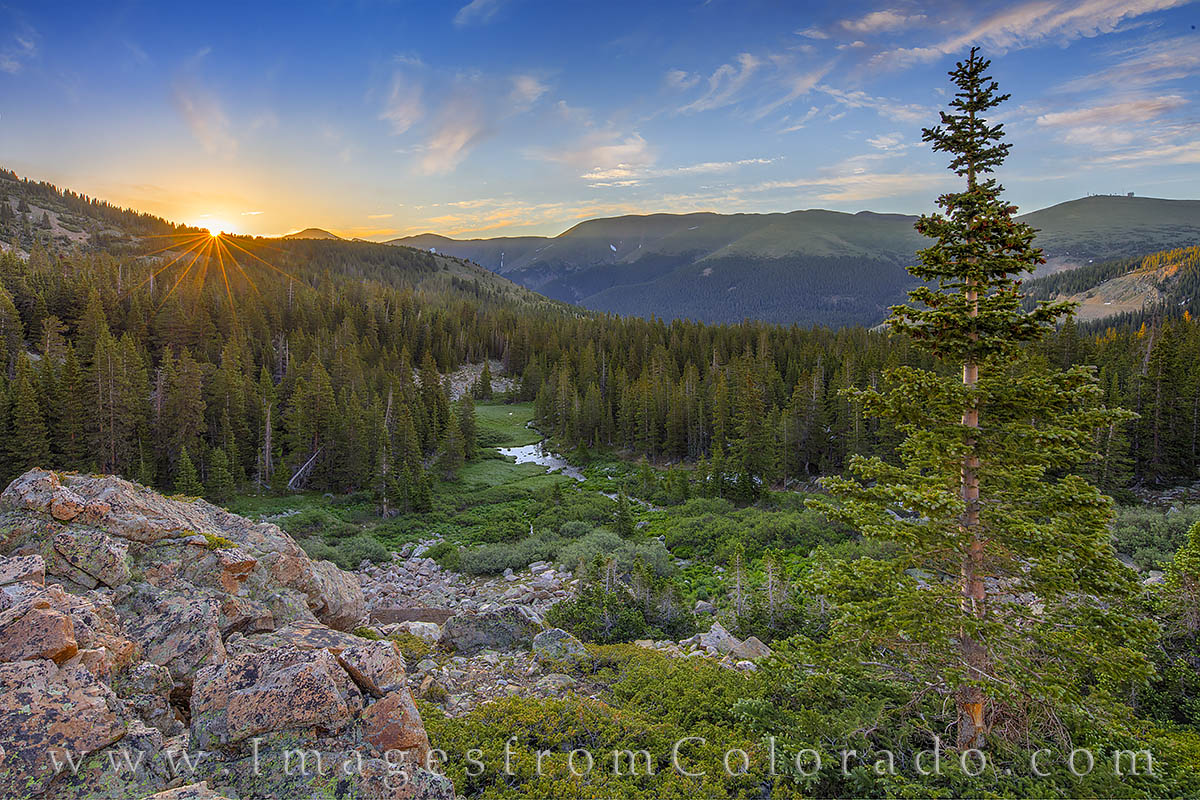 current creek, berthoud pass, colorado mines peak, grand county, sunrise, hike, photo