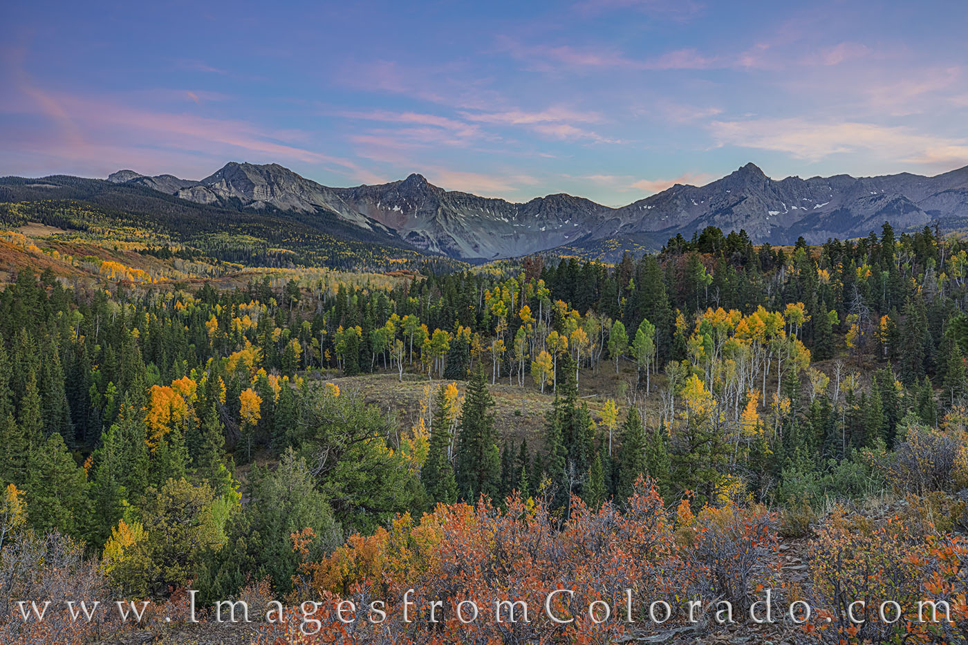 dallas divide, sneffels, CR 9, telluride, ridgway, autumn, fall, gold, orange, red, photo