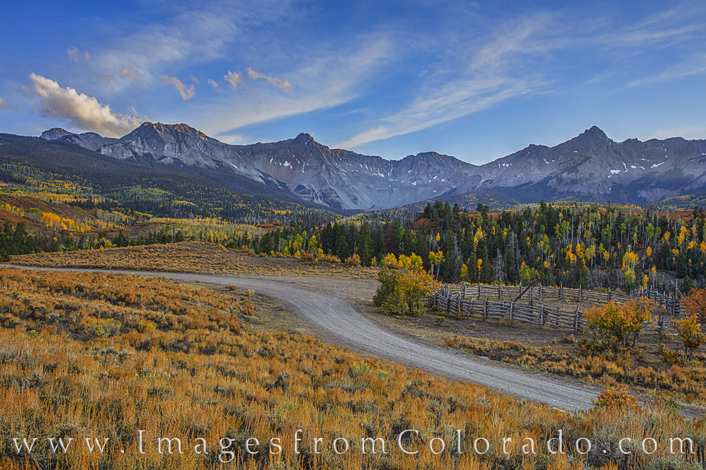 Dallas Divide from County Road 9 in Fall
