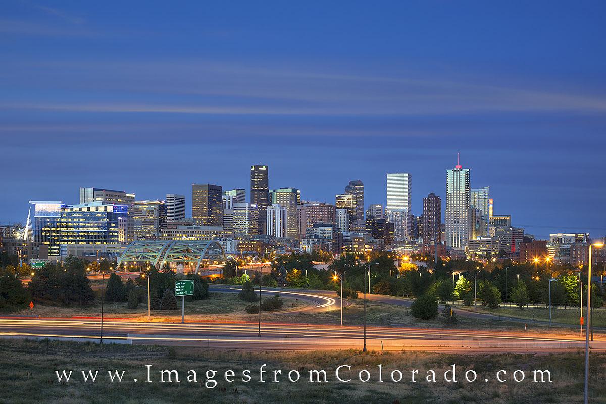 Denver Skyline Evening 2 : Denver : Images from Colorado