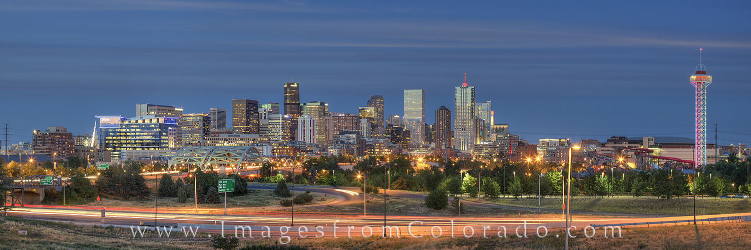 Denver skyline Panorama, Denver Skyline images, downtown denver, city scape, speer boulevard, Republic Plaza, photo