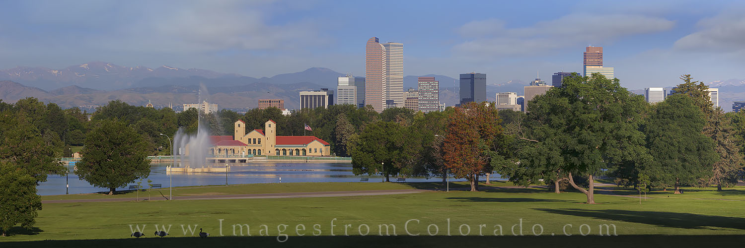 denver skyline, downtown denver, city park, denver images, denver skyline photos, boat house, boathouse, city park boathouse, denver cityscape, downtown denver photos, city park images, photo